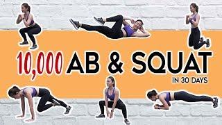 10,000 Ab & Squat Challenge in 30 Days | Joanna Soh