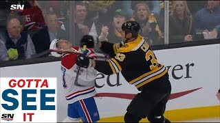 GOTTA SEE IT: Chara Gets Away With Violent Cross-check To Gallagher's Face