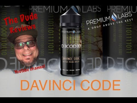 DAVINCI CODE, Decoded Series By  Premium Labs/ E-Juice Review