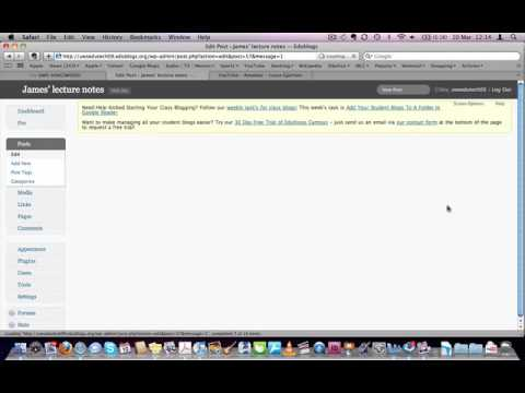 How to embed YouTube movies into your Edublog.