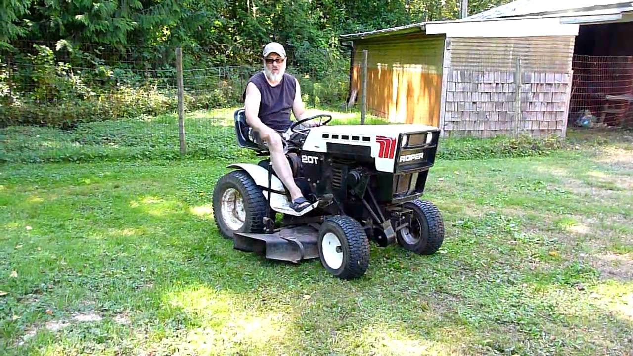 Roper Lawn Tractors And Garden : Roper tractor youtube