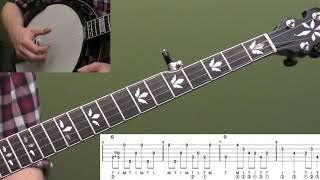 Down The Neck Rolling Backup (Key Of G) Intermediate Banjo Lesson