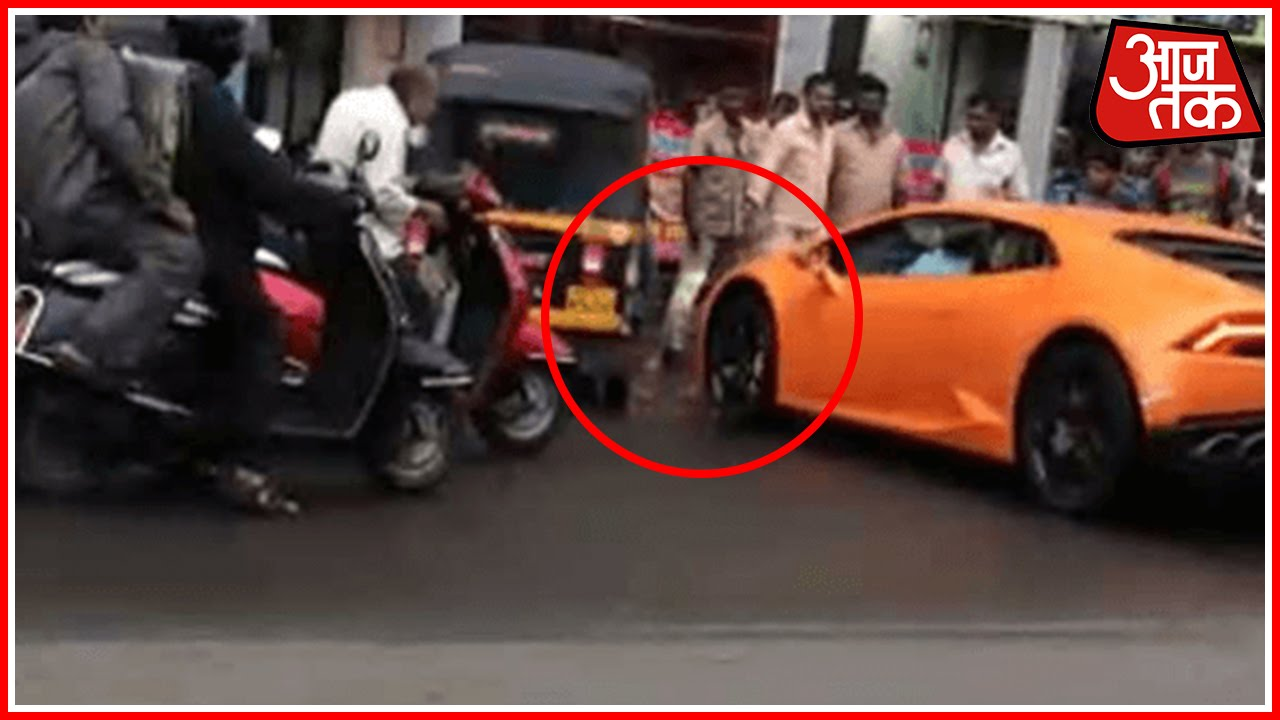 Mumbai BJP MLAs Wife Rams Lamborghini Into Auto YouTube - Auto hona