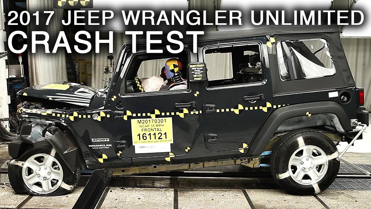 2017 Jeep Wrangler Unlimited Frontal Crash Test