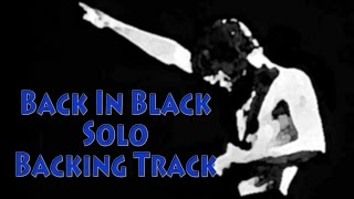 "AC/DC ""Back In Black"" Solo Section Backing Track"