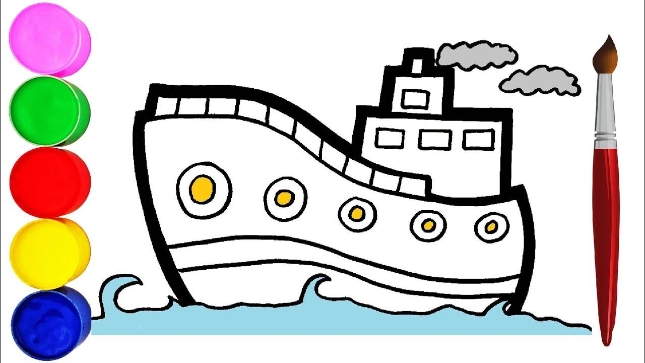 Wie Zeichnet Man Ein Schiff für Kinder Malen für Kinder ...