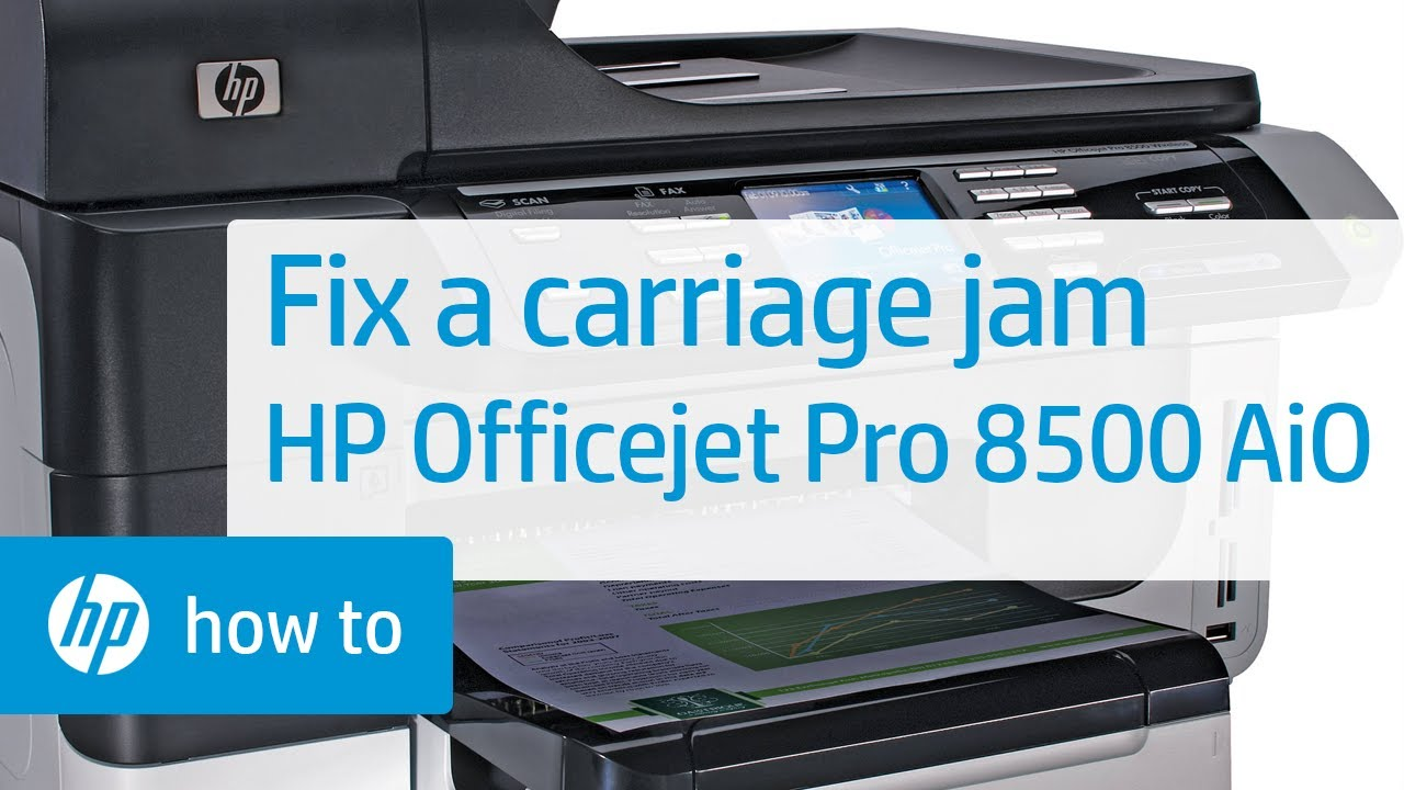 fixing a carriage jam hp officejet pro 8500 premier all in one printer a909n youtube. Black Bedroom Furniture Sets. Home Design Ideas