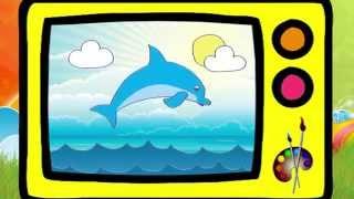 Как нарисовать дельфина. Оживающие рисунки. Наше_всё!(Учимся рисовать дельфина, который в конце передачи оживет! От канала Наше_всё! Плейлист