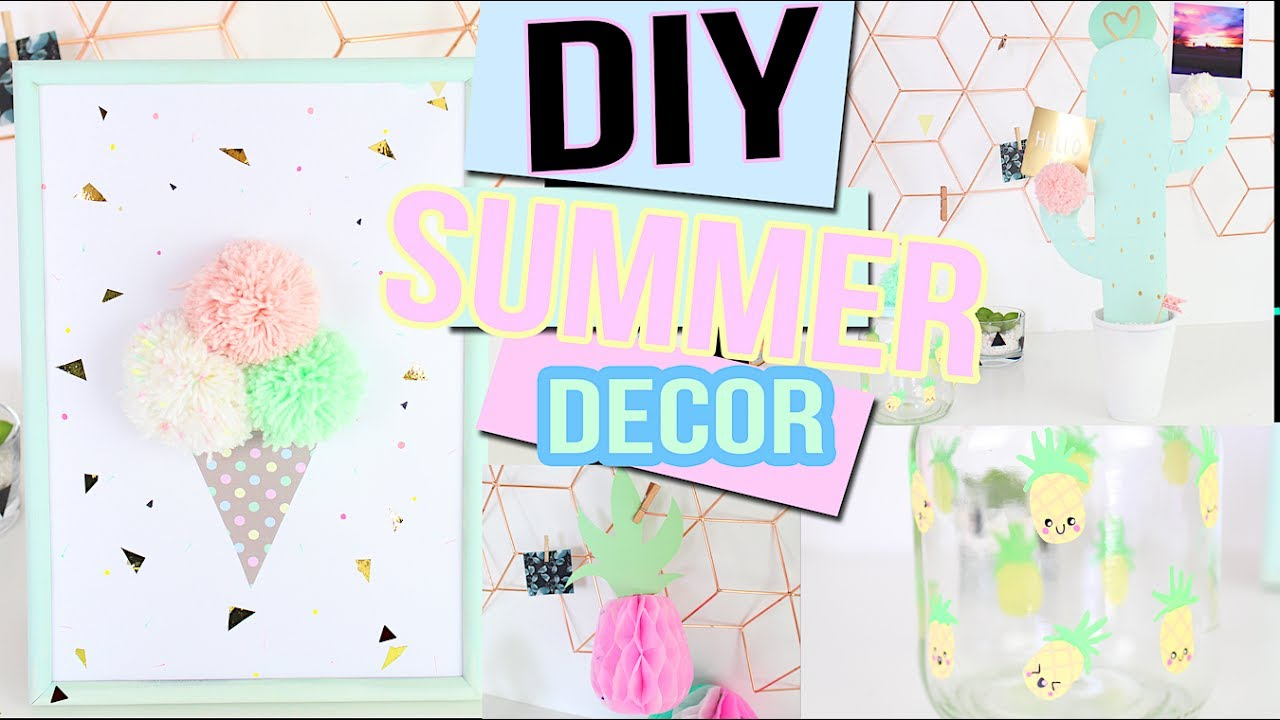 diy t deco pastel kawaii tumblr chambre bureau summer room decor francais youtube. Black Bedroom Furniture Sets. Home Design Ideas