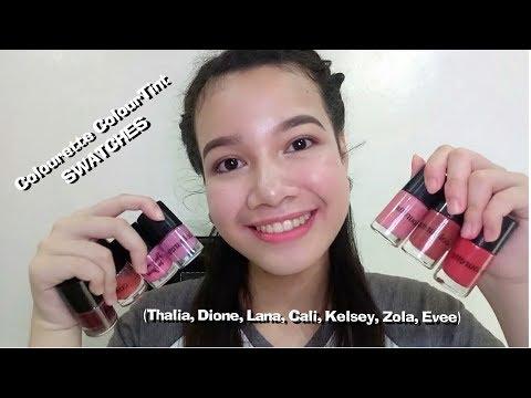 Colourette ColourTint • SWATCHES (Thalia, Dione, Lana, Cali, Kelsey, Zola, Evee)   Cathlene Atienza