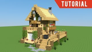 Casa - Wooden Home - Minecraft House Tutorial (2018)
