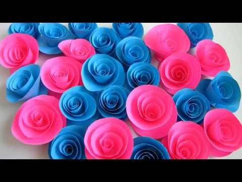 Diy Roses From Paper Handwork 2 Min How To Make Rolled Paper