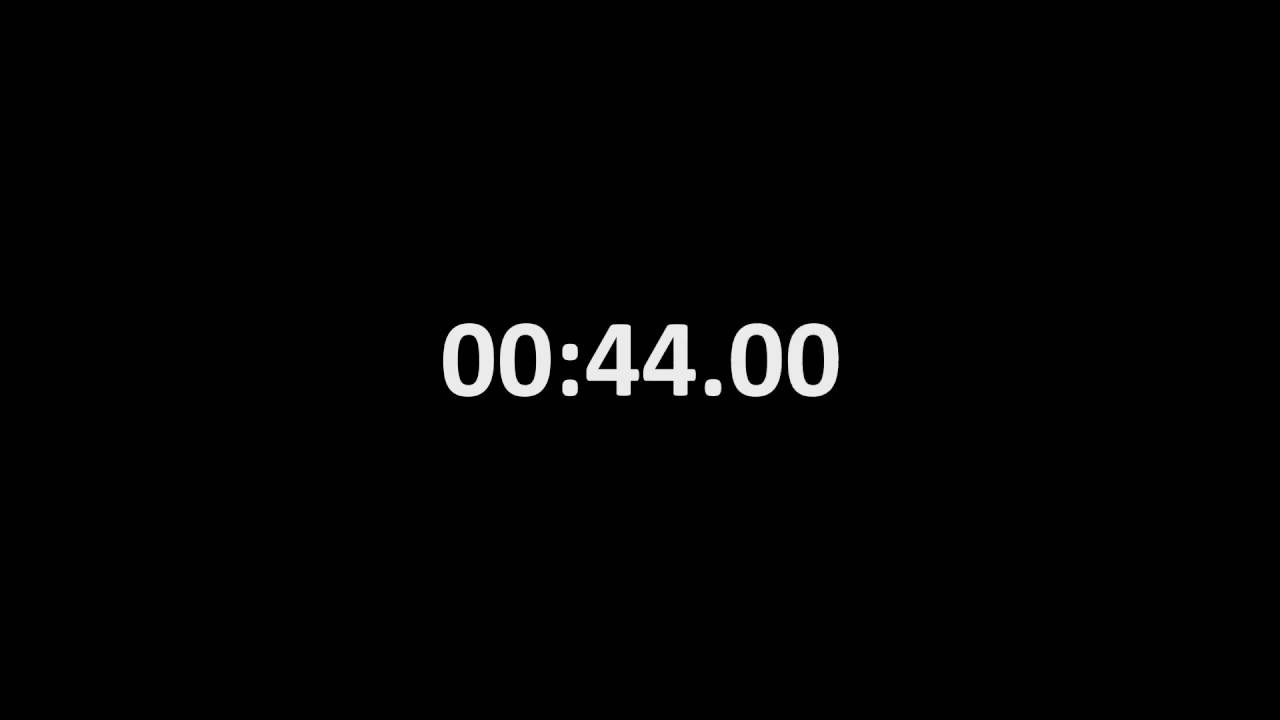 One Minute Countdown Timer with milliseconds