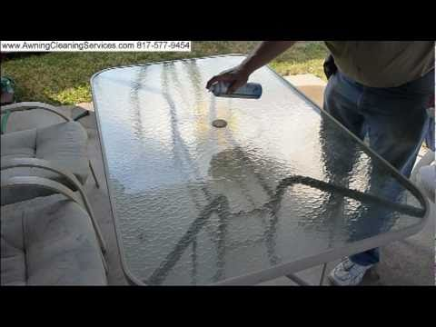 Cleaning The Glass Top On A Patio Table Dallas Fort Worth DFW TX   YouTube