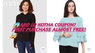 😱 AJIO LO KOTHA OFFER?/ FIRST PURCHASE ALMOST FREE 🤯 screenshot 2