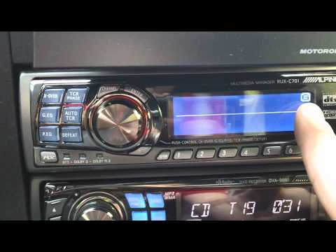 Alpine H701 + Alpine DVA-9861 - Volkswagen GTi car stereo