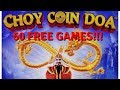 SUPER-DUPER BIG WIN!  CRAZY RETRIGGERS!  CHOY COIN DOA SLOT MACHINE by ARISTOCRAT