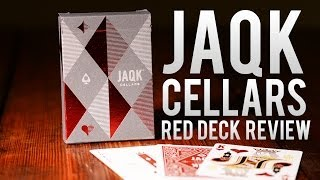 Deck Review - Red JAQK Cellars Playing Cards
