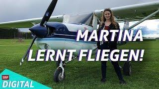 Martina fliegt! Trainiert im Simulator, jetzt im echten Flugzeug (3/3)