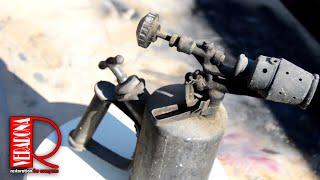 Vintage Blow Torch Full Restoration. Renovace letlampy. DIY