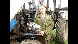 Видеоотчет испытания топливного насоса 4УТНИ Сергея из Волгограда на тракторе МТЗ-82.Часть2.