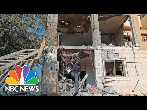 Palestinian Militant Rocket Hits House In Southern Israel | NBC News