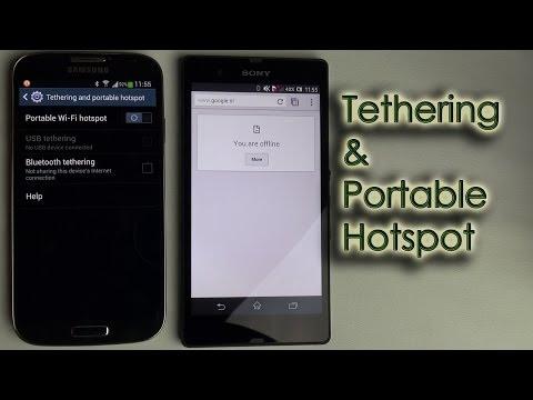 Tethering & Portable Hotspot (USB, Bluetooth & Wi-Fi)