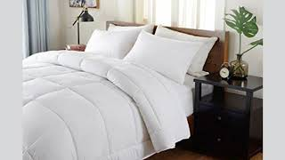 !! BEST SELLER !! Hotel Collection Queen Comforter- White,Duvet Insert- Down Alternative Comforter H