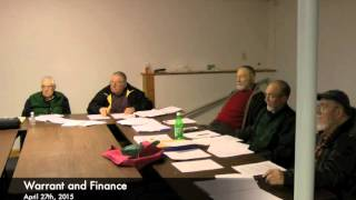 Warrant and Finance - 04-27-2015