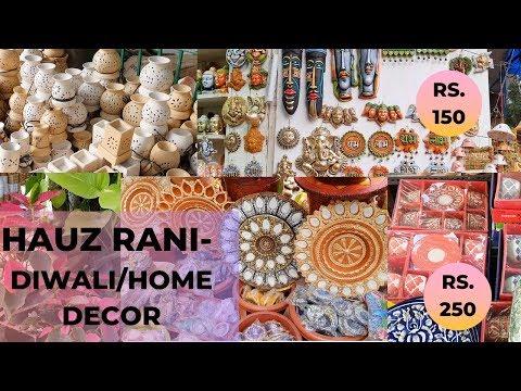 BEST DIWALI AND HOME DECOR! - HAUZ RANI MARKET | Vanya Bhatnagar