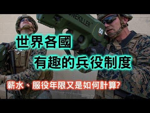 世界各國有趣的兵役制度!薪水與服役年限又是如何呢?