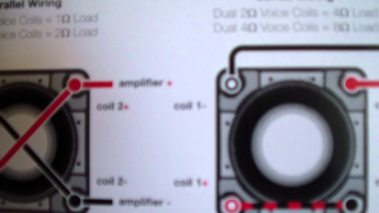 kicker l ohm wiring kicker image wiring diagram a video on how to wire kicker stuff for joshee1347 on kicker l7 4 ohm