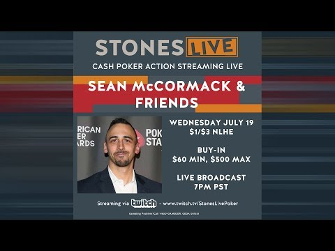 Sean McCormack and Friends! $1/$3 No Limit Hold'Em