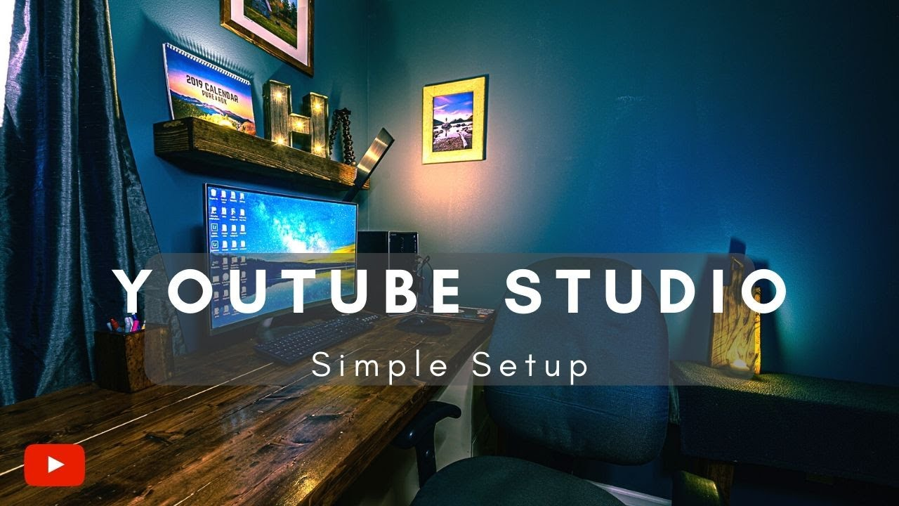 Simple At Home Youtube Studio Setup Youtube