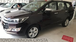 TOYOTA INNOVA CRYSTA 2018 ZX TOP MODEL REAL LIFE REVIEW
