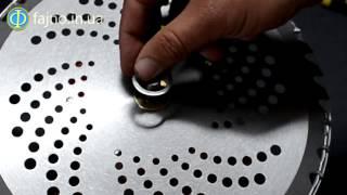 Установка диска на мотокосу