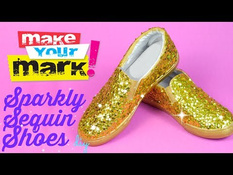 How to: Sequin Shoes DIY
