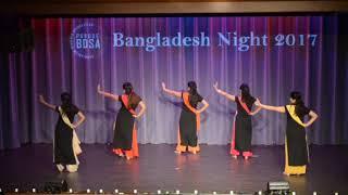 Kine De Reshmi Churi, Mone Rong Legeche | Purdue BDSA Girls | Dance | Bangladesh Night 2017