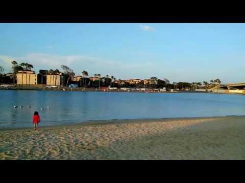 { 4K } Mother's Beach , sand, ocean ,relax - from Long Beach California