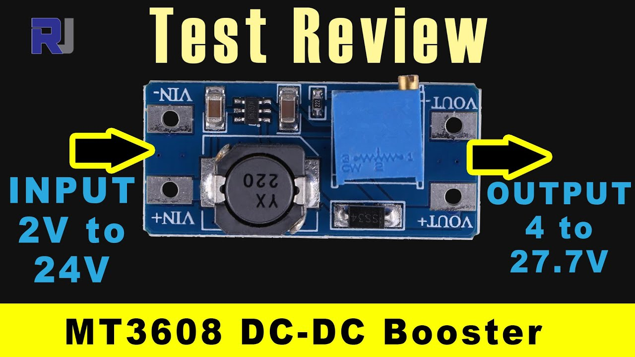 Test Review Of 2a Dc Step Up Boost Converter Mt3608 Youtube Sale 12vdc To 5vdc Circuit