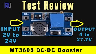 Test review of 2A DC-DC Step up boost converter MT3608