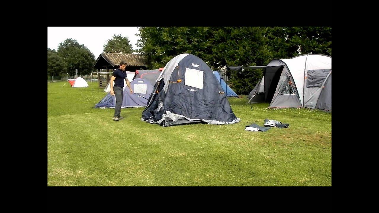 montaggio tenda igloo (giglio 4 bertoni) - youtube