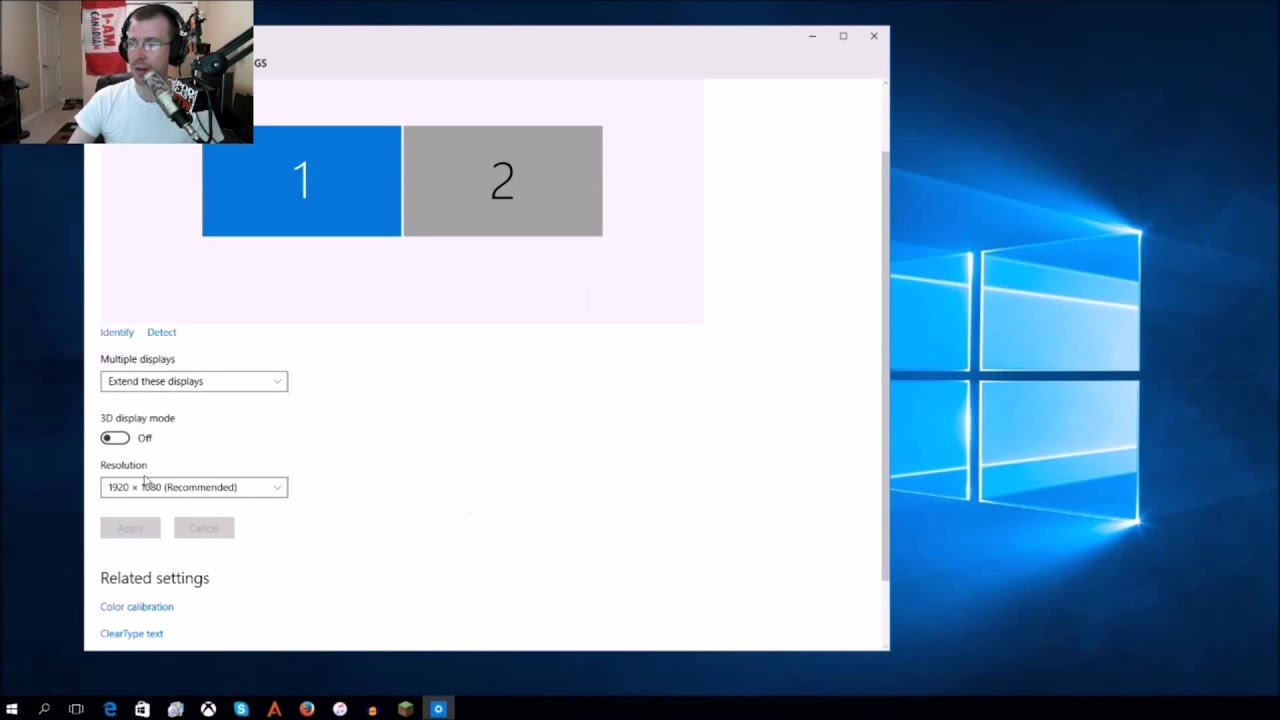 how to change your screen resolution and refresh rate in windows 10 youtube