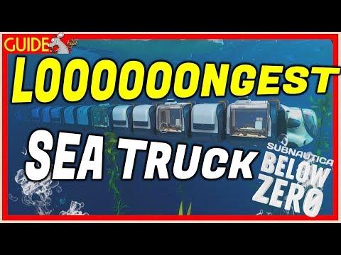SUBAUTICA BELOW ZERO Longest Sea Truck Ever! New Update