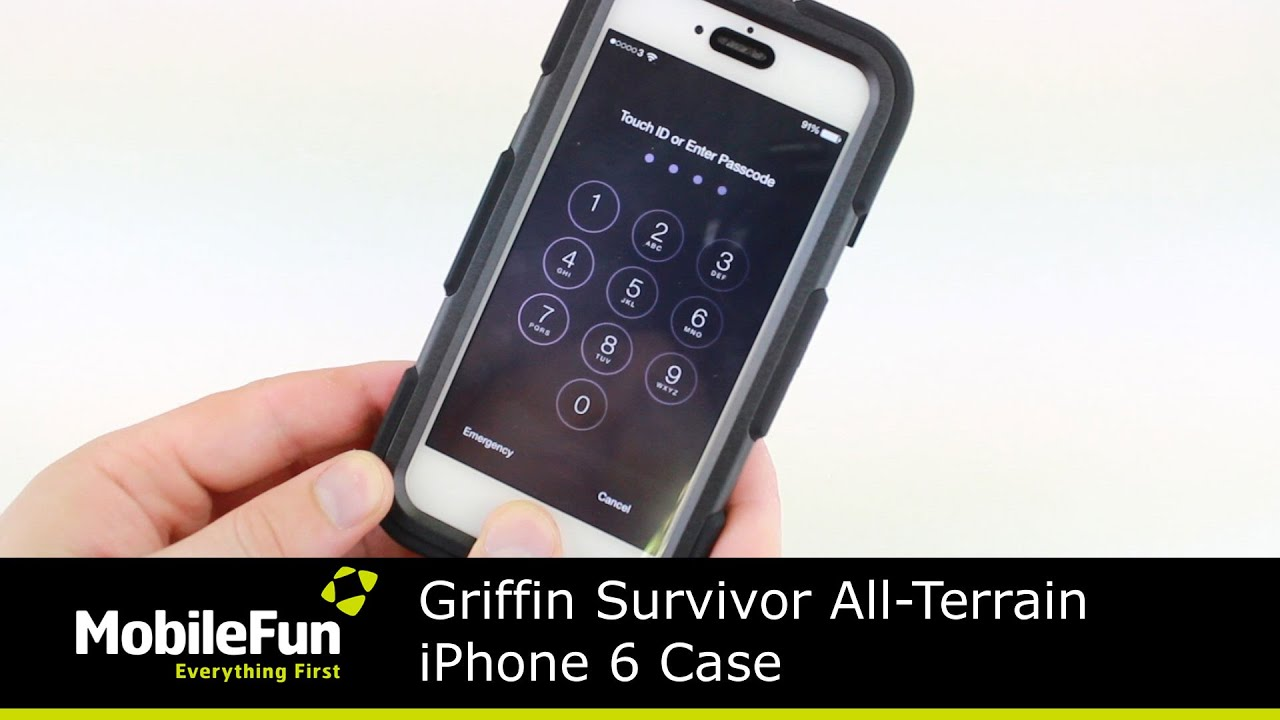 Griffin Survivor All-Terrain iPhone 6S   6 Tough Case Review - YouTube a91a219e31de