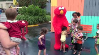 Julia & Henry meet all the Sesame Place characters