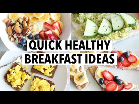 5 QUICK HEALTHY BREAKFASTS FOR WEEKDAYS less than 5 min, easy recipe ideas!