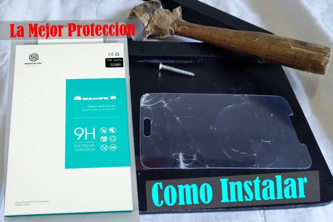 6a981f15d4c MEJOR Mica de vidrio templado para celulares || PROTECTOR NILLKIN 9H -  YouTube