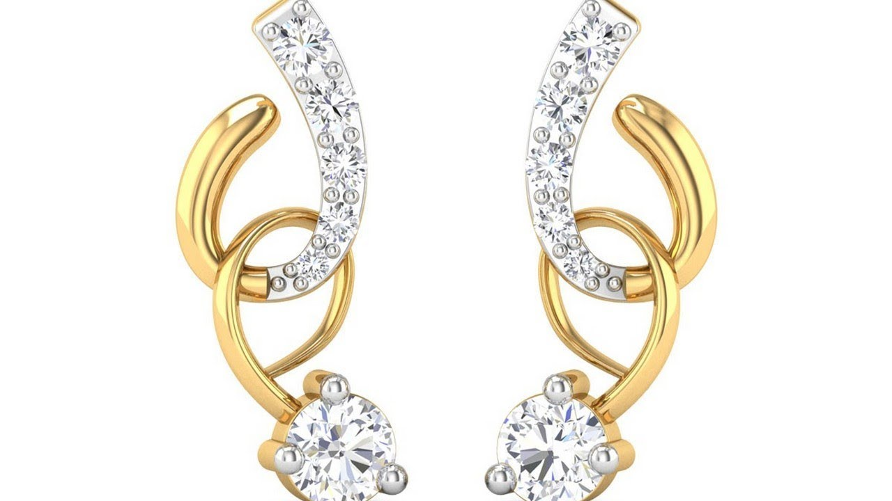 Simple Gold Earrings Designs Images New 2018 Chandbali