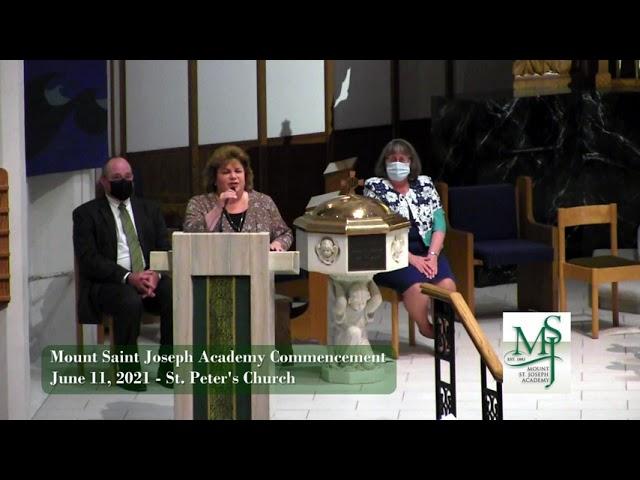2021 Mount St Joseph Academy Commencement